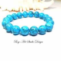 Howlit karkötő 10 mm-es kék gyöngyökből