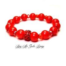 Bog-Art Studio - Szerelmes szenvedély piros színű gyöngy karkötője