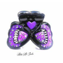 Bog-Art Studio - Hajcsat - pillangó - 45x60 mm - fekete-lila