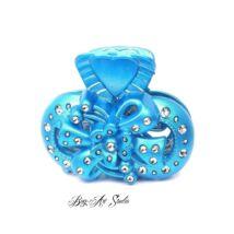 Bog-Art Studio - Hajcsat - Virág masnival - 40x60 mm - kék