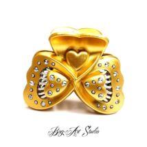 Bog-Art Studio - Hajcsat - pillangó - 45x60 mm - arany