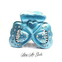Bog-Art Studio - Hajcsat - pillangó - 45x60 mm - kék