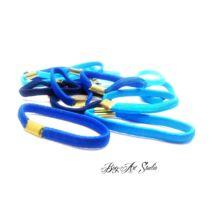 Bog-Art Studio - Hajgumi - toldott - 5 cm - 15 db - kék