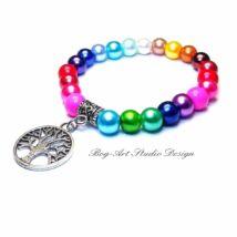 Gyöngy karkötő - Szivárvány színű