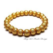 Gyöngy karkötő - 8 mm-es arany gyöngyök