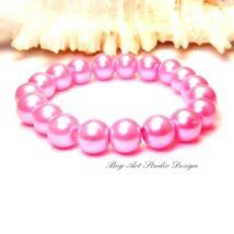 Gyöngy karkötő - 10-es sötét rózsaszín gyöngyökből
