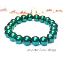 Gyöngy karkötő - 10-es smaragd gyöngyökből