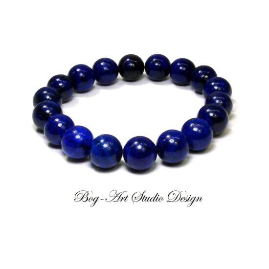 Lápis lazuli karkötő 10 mm-es gyöngyből