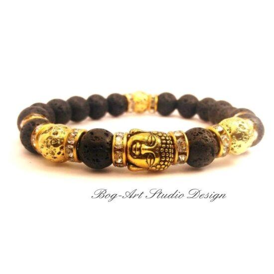 Bog-Art Studio - Arany Bölcs Buddha karkötő