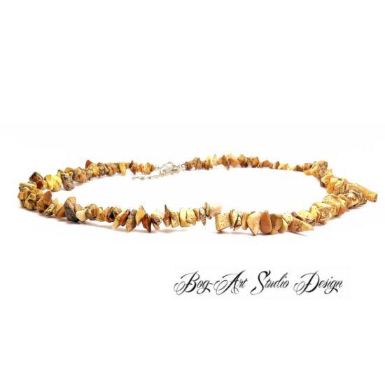 Bog-Art Studio - Képjáspis nyaklánc szemcsekövekből