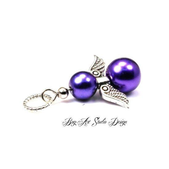 Bog-Art Studio - Angyalka medál - sötét lila