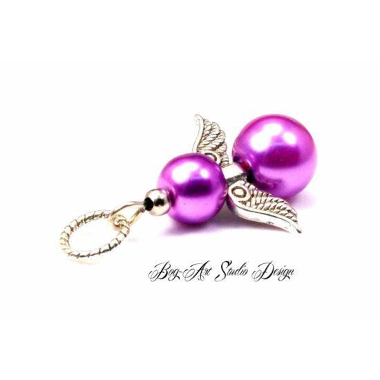 Bog-Art Studio - Angyalka medál - világos lila