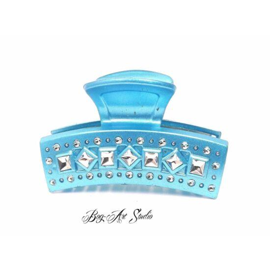 Bog-Art Studio - hajcsat - Íves csillogás - 50x80 mm - kék