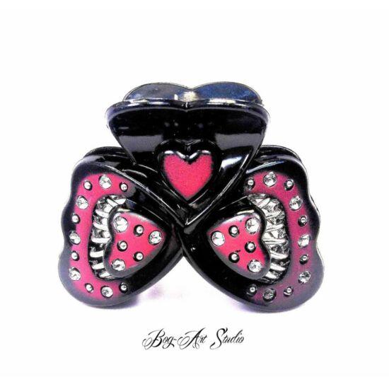 Bog-Art Studio - Hajcsat - pillangó - 45x60 mm - fekete-barna