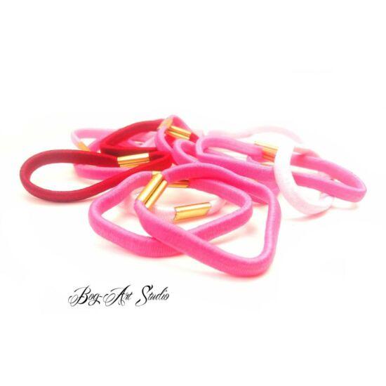 Bog-Art Studio - Hajgumi - toldott - 5 cm - 15 db - rózsaszín