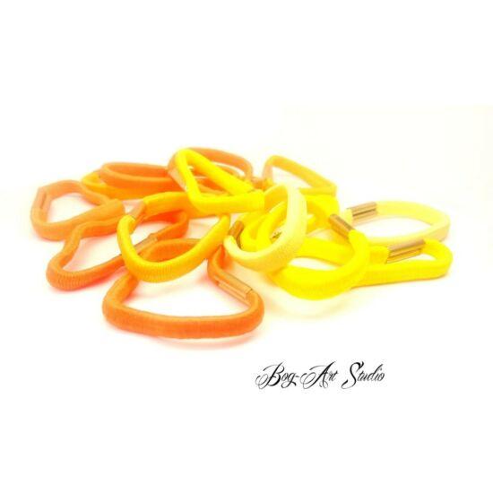 Bog-Art Studio - Hajgumi - toldott - 5 cm - 15 db - sárga