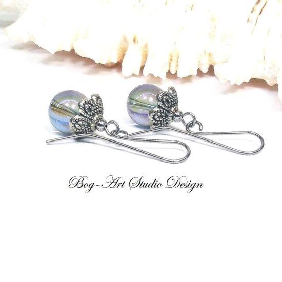 Aura Akva fülbevaló fém kapszulával