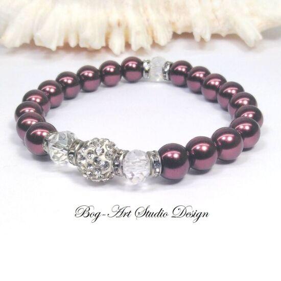 Gyöngy karkötő - Óarany gyöngyökből kristályokkal