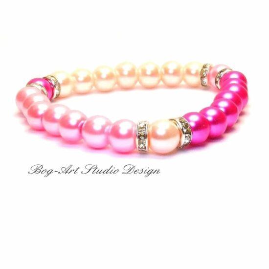 Rózsaszín álom tekla gyöngy karkötő