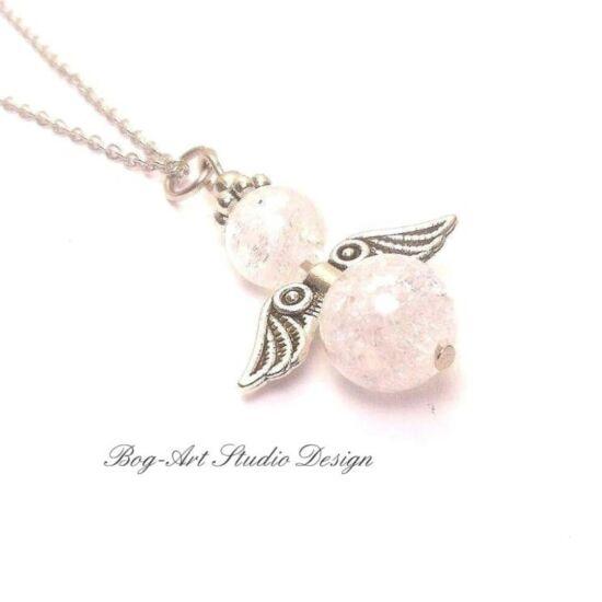 Hegyikristály angyalka medál