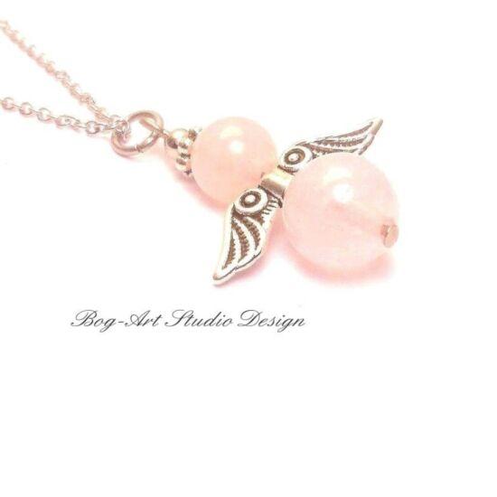Rózsakvarc angyali medál