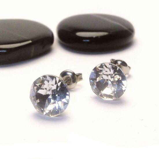 Swarovski csillogás - Gyémánt alakú beszúrós fülbevaló - 8 mm-es