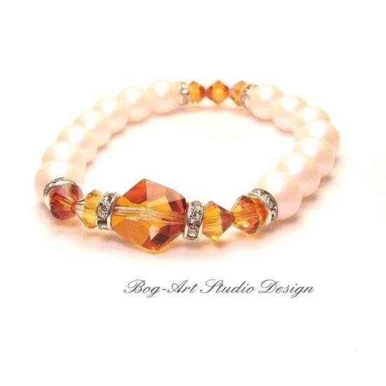 Gyönyörű csillogás különleges gyöngyök között - Ausztria gyöngy karkö Cosmic kővel